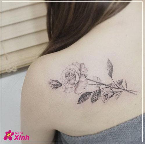 hình xăm hoa hồng ở vai cho nữ đẹp nhất 003