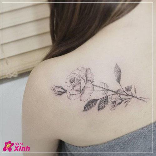 hình xăm hoa hồng ở vai đẹp nhất 010
