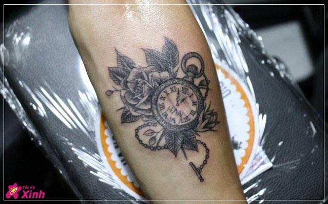 mẫu hình xăm đồng hồ đẹp