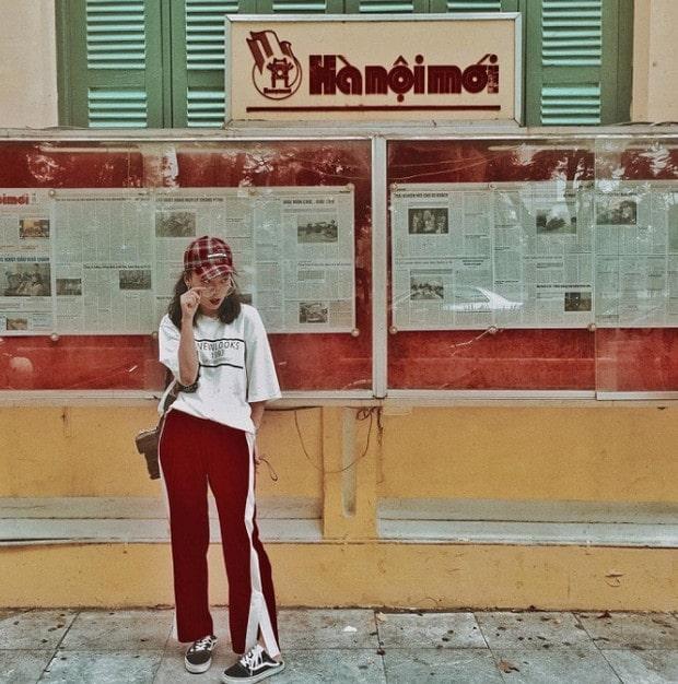 Chụp ảnh OOTD tại tòa soạn báo Hà Nội mới