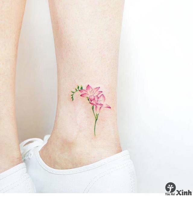 hình xăm mini nhỏ ở chân