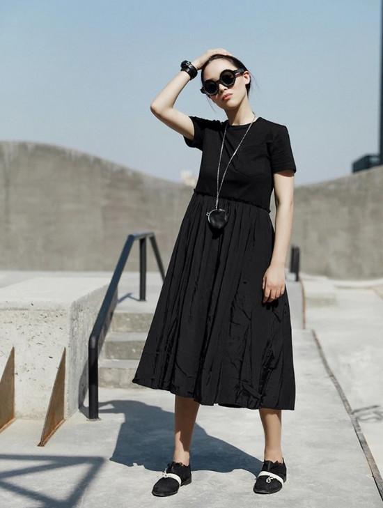 phối đồ phong cách vintage đẹp nhất - All black