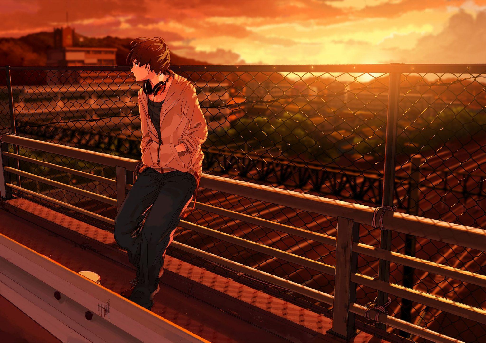 hình ảnh anime boy buồn, cô đơn 11