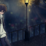 hình ảnh anime boy buồn, cô đơn 02