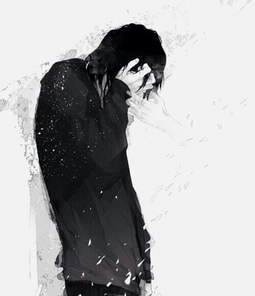 hình ảnh anime boy buồn, cô đơn 28