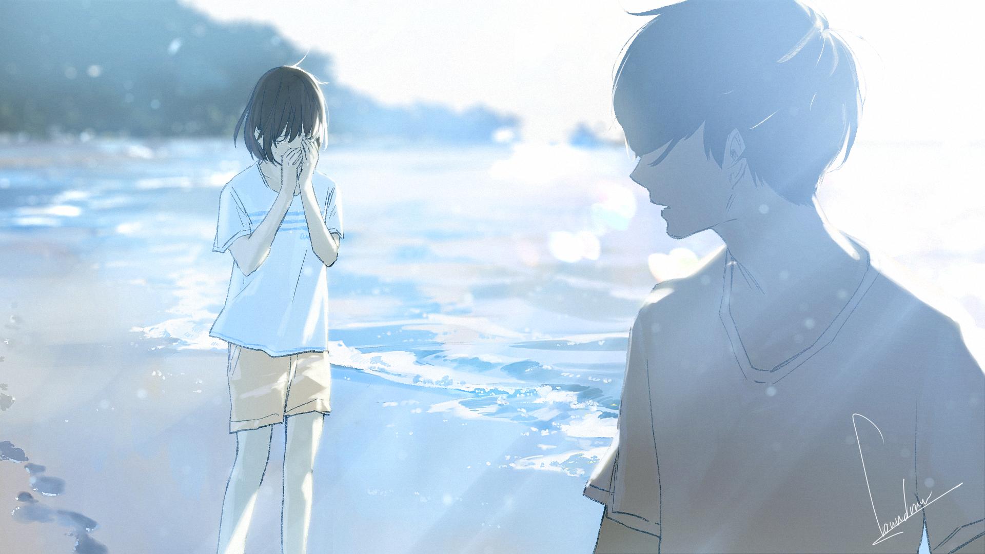 hình ảnh anime boy buồn, cô đơn 03