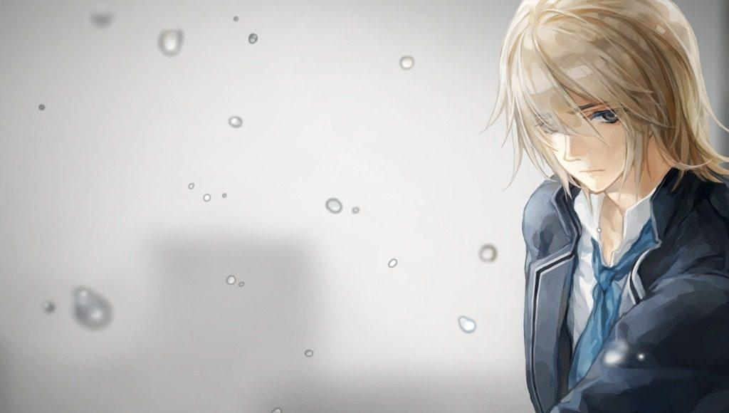 hình ảnh anime boy buồn, cô đơn 39