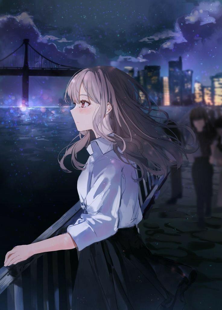 Hình ảnh anime Girl buồn 47