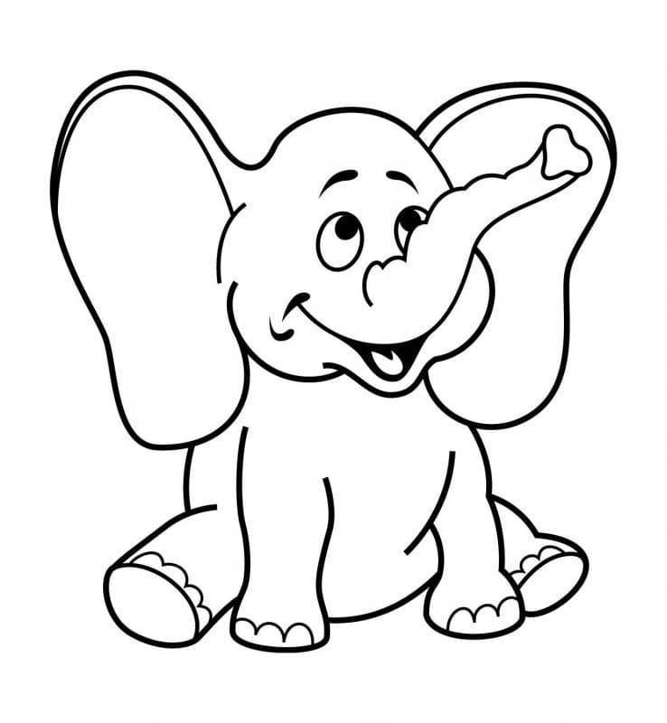 tranh tô màu cho bé 3 tuổi - hình ảnh động vật dễ thương 01
