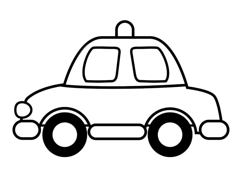 tranh tô màu cho bé 3 tuổi - tranh tô màu xe ô tô