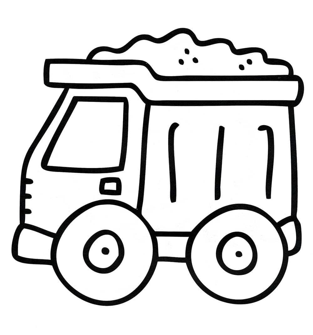 tranh tô màu cho bé 3 tuổi - tranh tô màu ô tô tải
