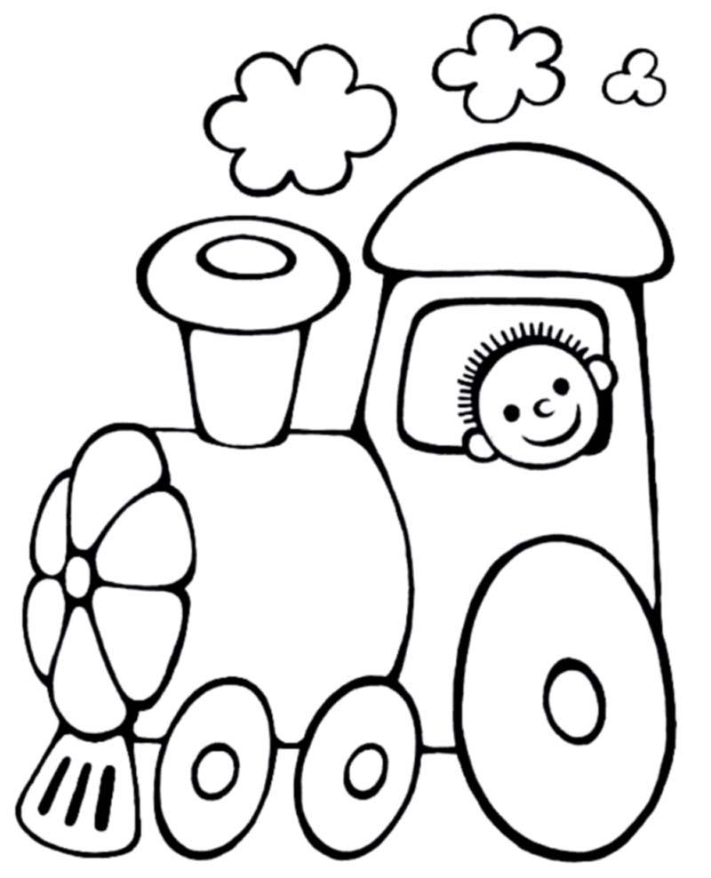 tranh tô màu cho bé 3 tuổi - tranh tô màu tàu hỏa