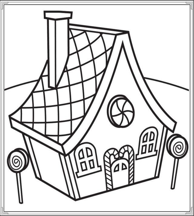 tranh tô màu cho bé 3 tuổi - tranh tô ngôi nhà