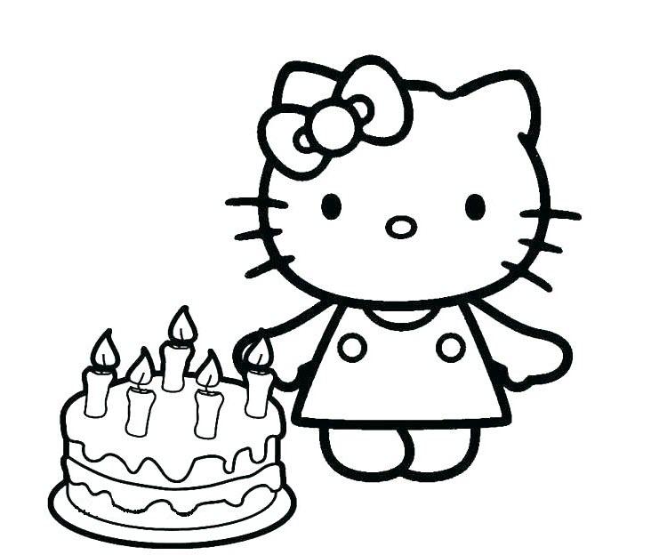 tranh tô màu cho bé 3 tuổi - tranh tô kitty dễ thương