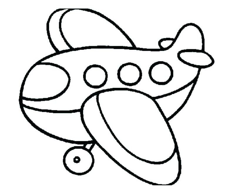 tranh tô màu cho bé 3 tuổi - tranh tô màu máy bay
