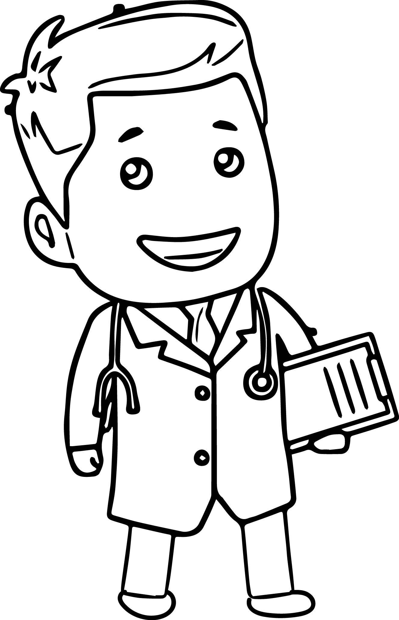 tranh tô màu cho bé 3 tuổi - tranh tô màu bác sĩ