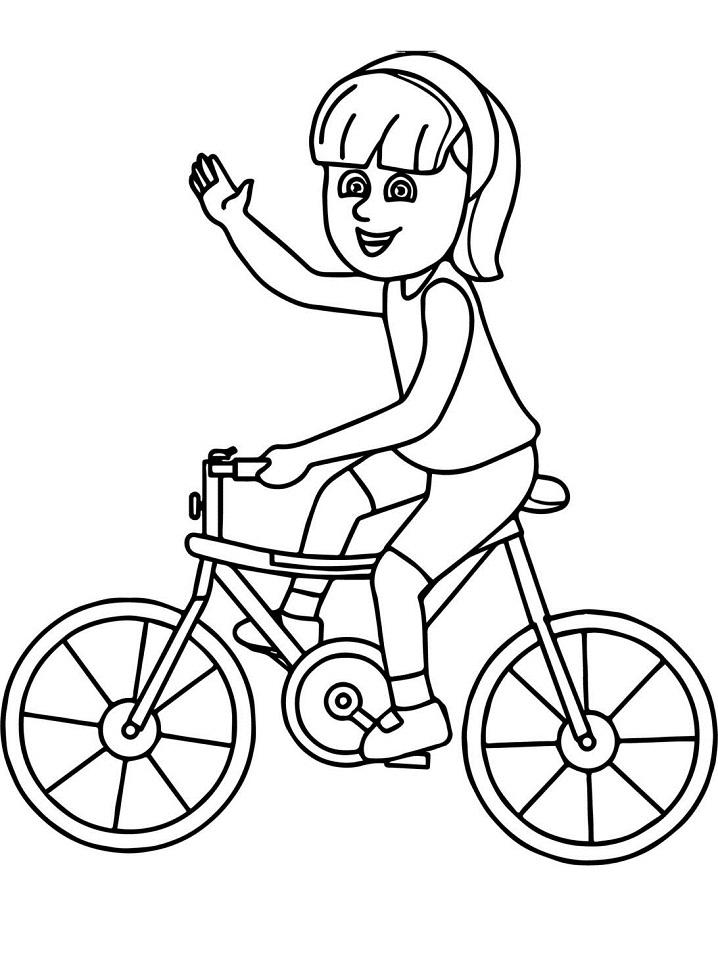 tranh tô màu cho bé 3 tuổi - tranh tô màu xe đạp