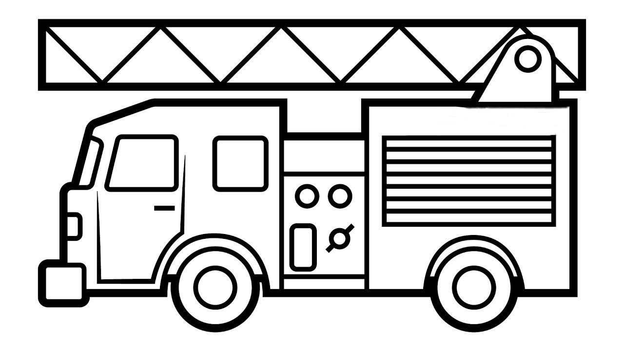 tranh tô màu cho bé 3 tuổi - tranh tô màu xe cứu hỏa