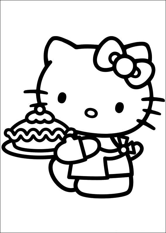 mẫu tranh tô màu hello kitty cho bé 001