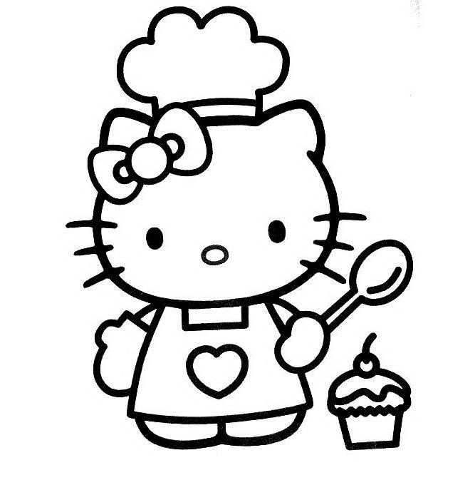 mẫu tranh tô màu hello kitty cho bé 004