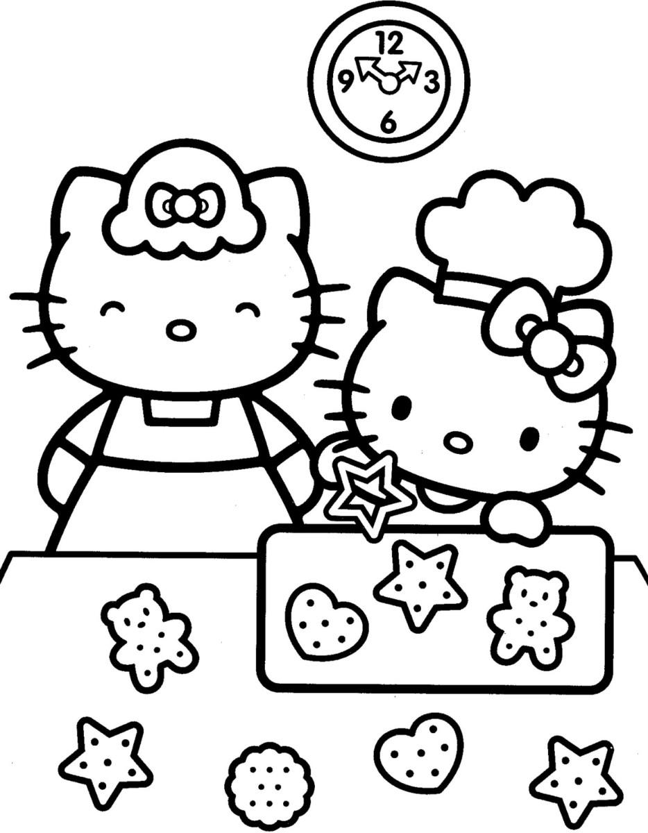 mẫu tranh tô màu hello kitty cho bé 005