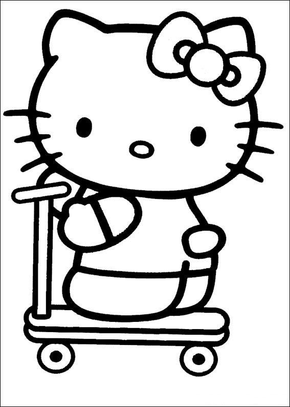 mẫu tranh tô màu hello kitty cho bé 006