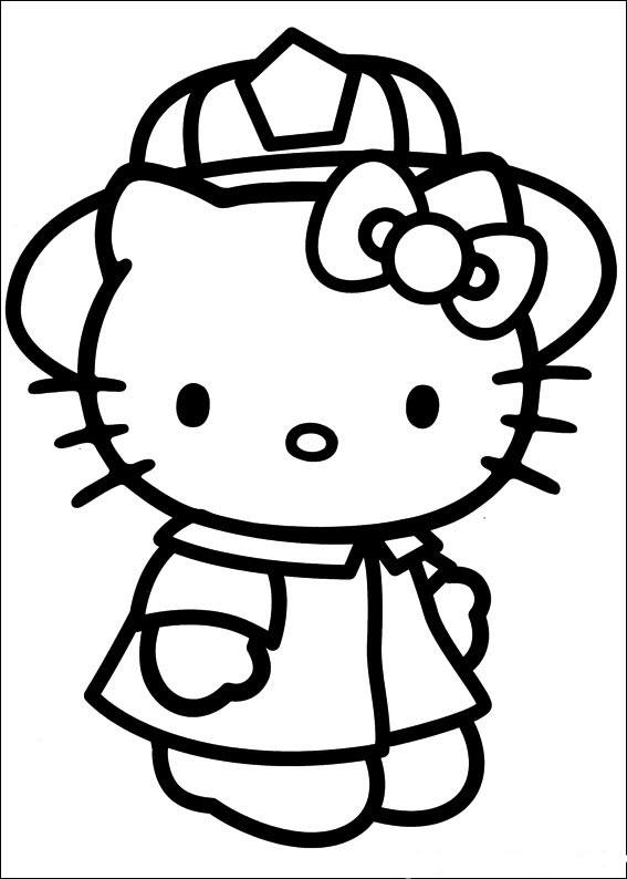 mẫu tranh tô màu hello kitty cho bé 007