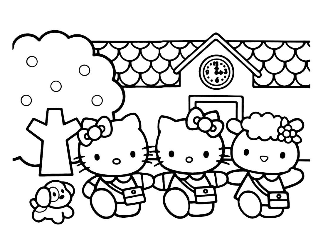 mẫu tranh tô màu hello kitty cho bé 009