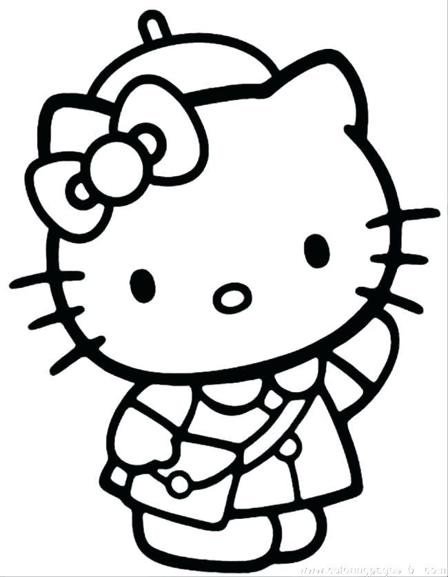 mẫu tranh tô màu hello kitty cho bé 010