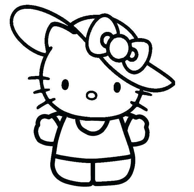 mẫu tranh tô màu hello kitty cho bé 011