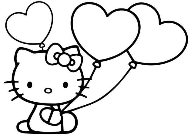 mẫu tranh tô màu hello kitty cho bé 014
