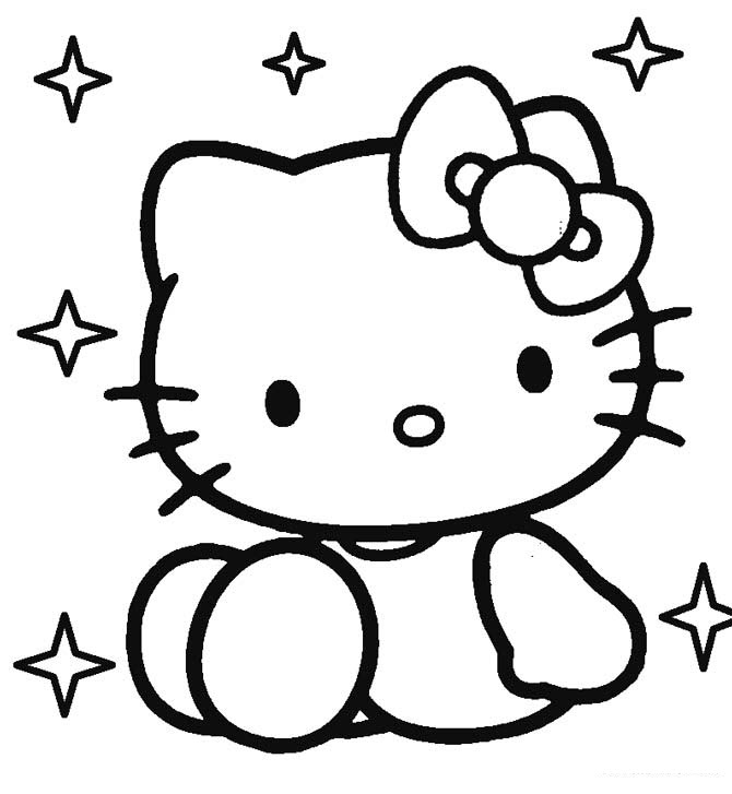 mẫu tranh tô màu hello kitty cho bé 015