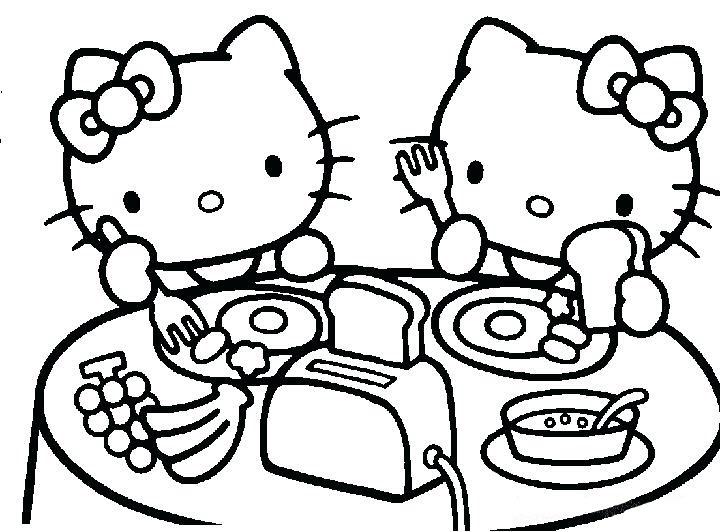 mẫu tranh tô màu hello kitty cho bé 017