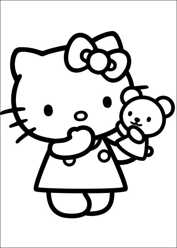 mẫu tranh tô màu hello kitty cho bé 018