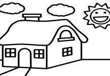 tranh tô màu ngôi nhà cho bé