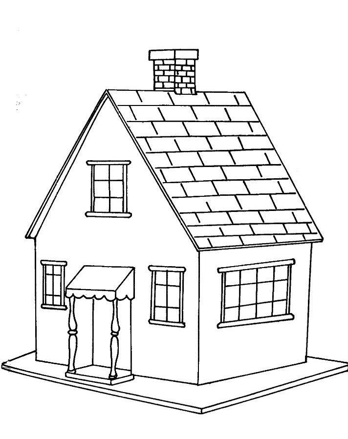 tranh tô màu ngôi nhà cho bé 02