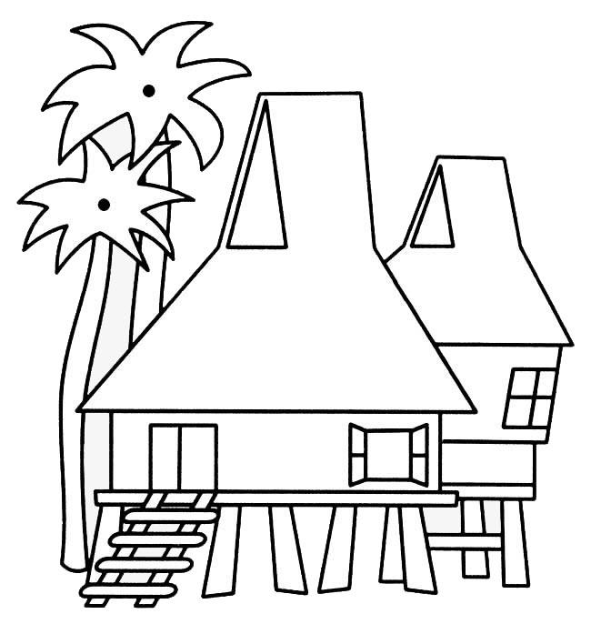 tranh tô màu ngôi nhà cho bé 04