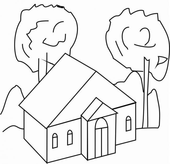 tranh tô màu ngôi nhà cho bé 11