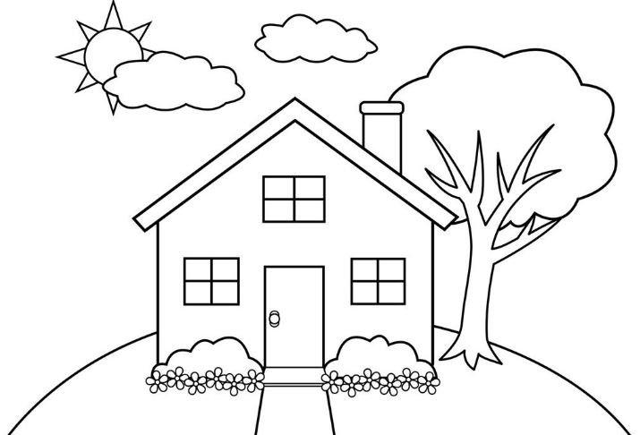 tranh tô màu ngôi nhà cho bé 10