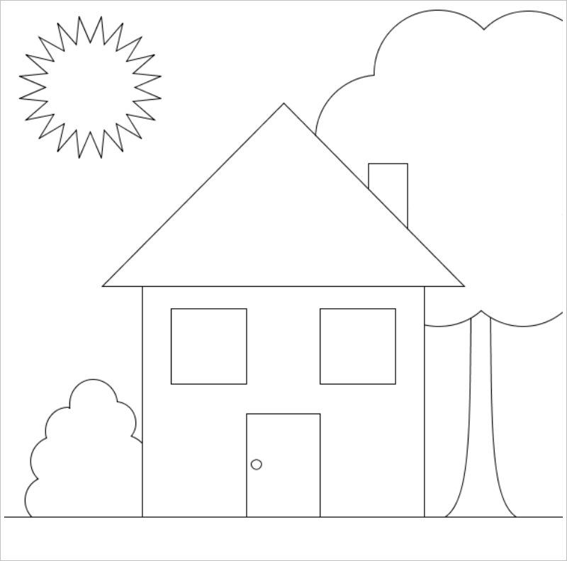 tranh tô màu ngôi nhà cho bé 09