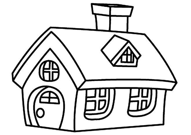 tranh tô màu ngôi nhà cho bé 08