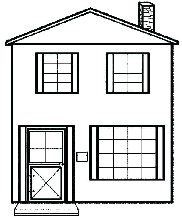 tranh tô màu ngôi nhà cho bé 07