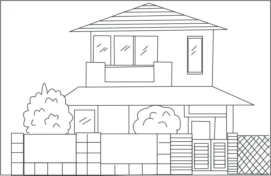 tranh tô màu ngôi nhà cho bé 12