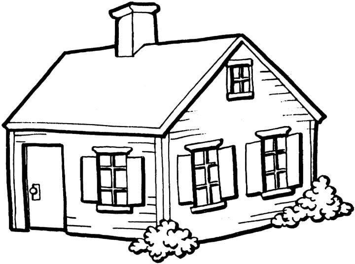 tranh tô màu ngôi nhà cho bé 15