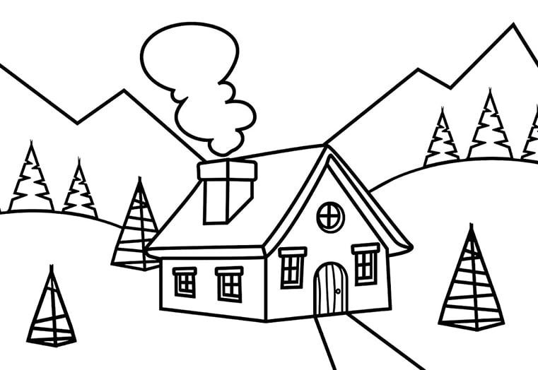 tranh tô màu ngôi nhà cho bé 18