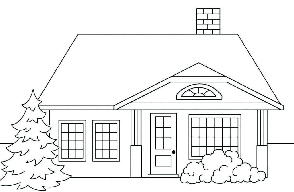 tranh tô màu ngôi nhà cho bé 19