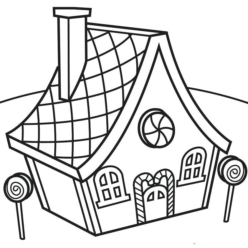 tranh tô màu ngôi nhà cho bé 20