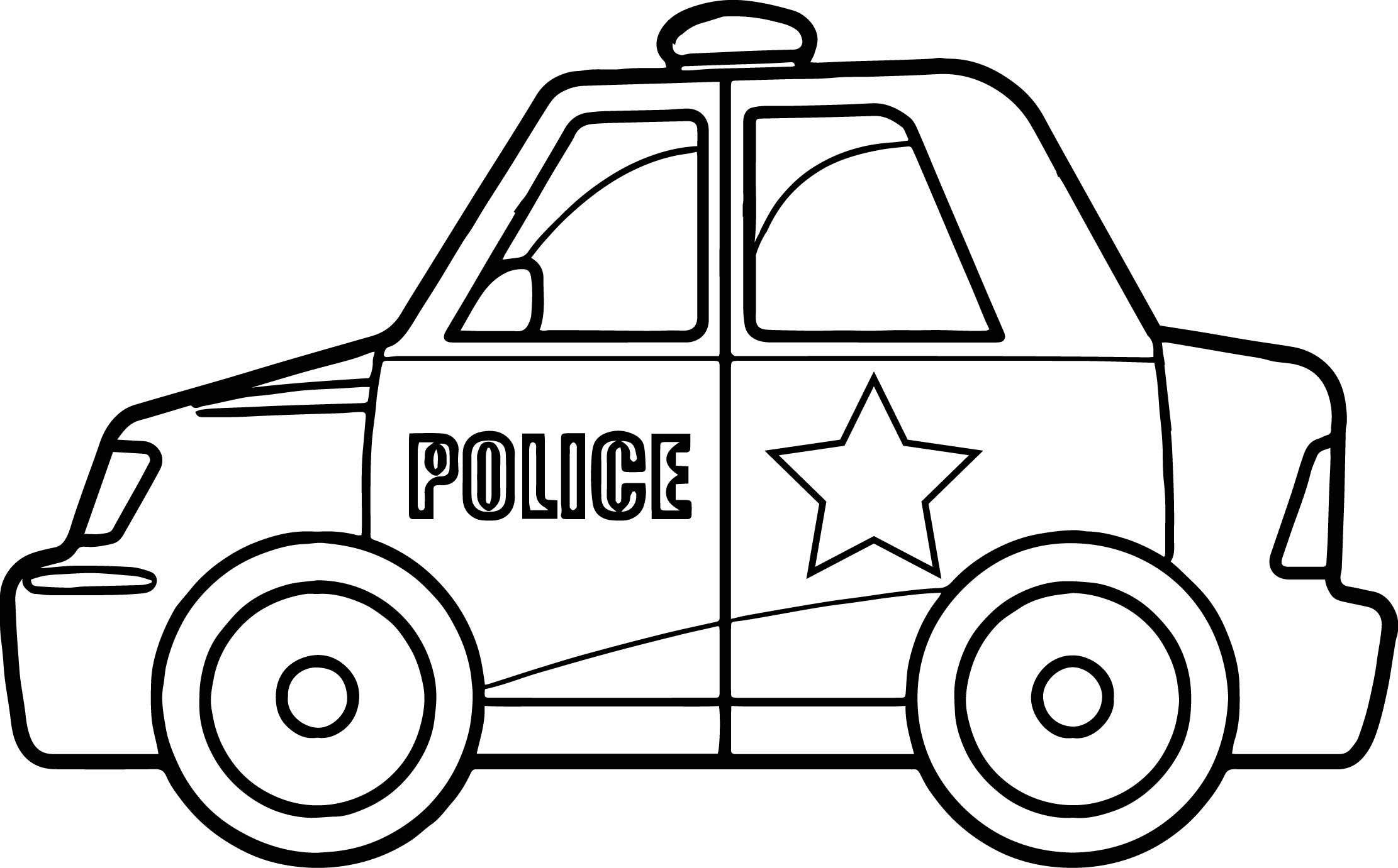 Tranh tô màu ô tô cho bé - xe cảnh sát