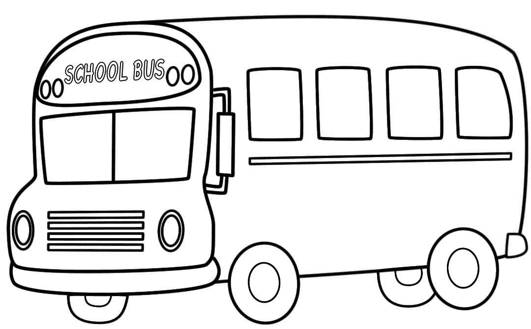 tranh tô màu xe bus học sinh