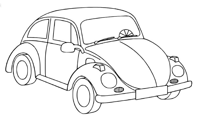 tranh tô màu ô tô con